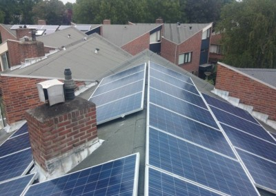 Zonnepanelen in oost-west opstelling